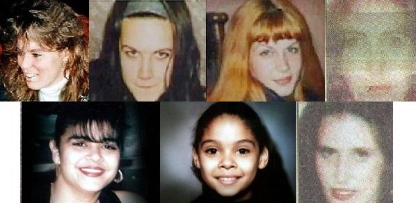Les 7 victimes de Runge : Stacy Frobel, Dzeneta Pasanbegovic et Amela Pasanbegovic, Dorota Dziubak, Yolanda Gutierrez, Jessica Muniz, Kazimiera Paruch
