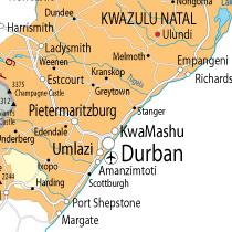 Situation de Durban