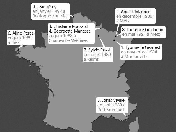 carte des meurtres de Heaulme