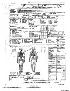 Un rapport d'autopsie
