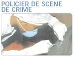 policier de scène de crime