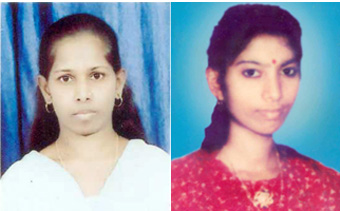 Deux des victimes : Yogitha Naik and Darshana
