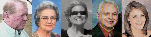 Kline Cash, Hazel Linder, Gina Linder Parker, Stephen Tyler et Abby Tyler