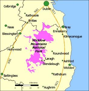 le parc national des Wicklow moutains