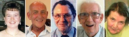 Les cinq victimes identifiées