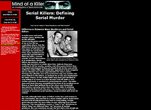 serial homicide case of the day