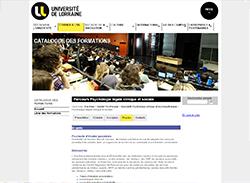 Master Psychologie clinique et psychopathologie Universite de Lorraine