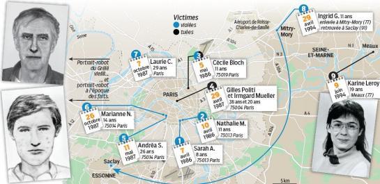 Carte des crimes du Grélé