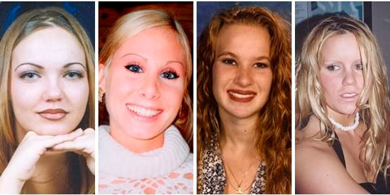 Les 4 victimes du Nevada : Jodi Brewer, Lindsay Harris, Misty Saens et Jessica Foster