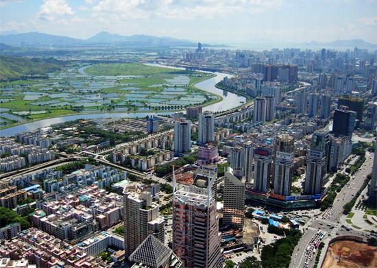 Le centre-ville de Shenzhen