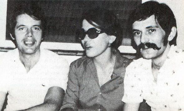 Herman Knippenberg et deux touristes français