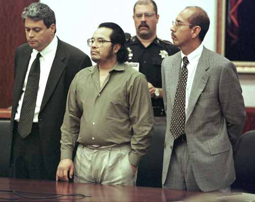 Angel Maturino Resendiz avec ses avocats Allen Tanner et Rudy Duarte