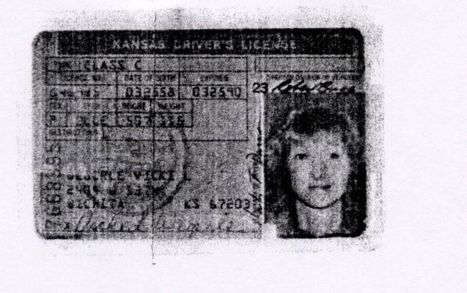 permis de conduire de Vicki Wegerle